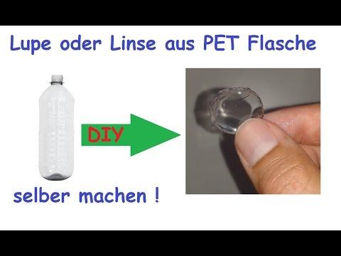 Vergrößerungsglas / Lupe aus PET Flasche selber machen / Linse selbst bauen / DIY Upcycling Tutorial