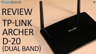 TP-Link Archer D20 AC750 Router Review