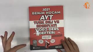 Benim Hocam Yayınları 2021 AYT Türk Dili ve Edebiyatı Video Ders Defteri - Kadir Gümüş