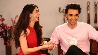 Warina Hussain & Aayush Sharma on Salman Khan, cricket, Navratri & love | Loveyatri | Atika Farooqui