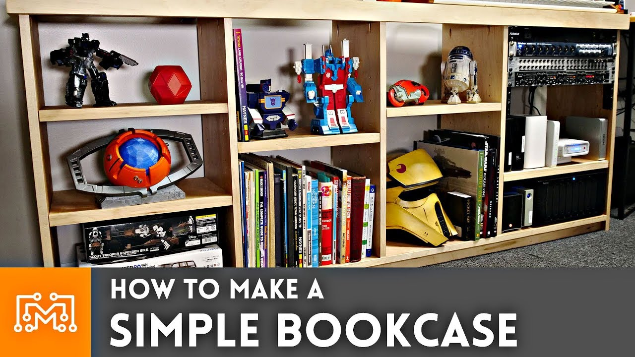 How to make a simple bookcase youtube for Build a simple bookshelf