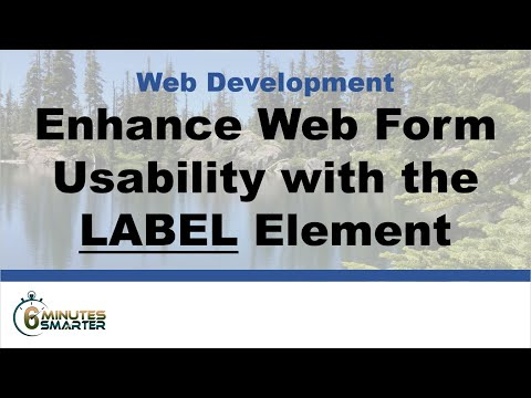 Enhance Web Form Usability With The LABEL Element And The FOR And ID Attributes