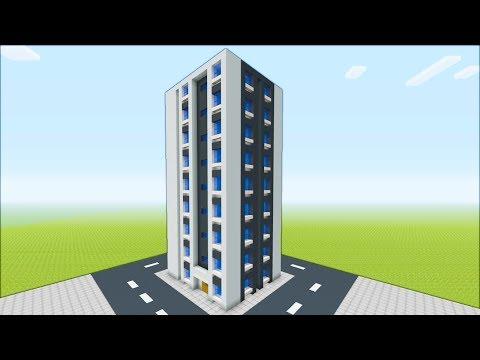 "Minecraft Tutorial: How To Make A Easy Skyscraper ""2019 City Tutorial"""