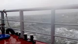 Шторм на Белом море(7 баллов по Бофорту, видео с катера