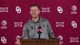 OU Football: Lincoln Riley talks Big 12 Championship