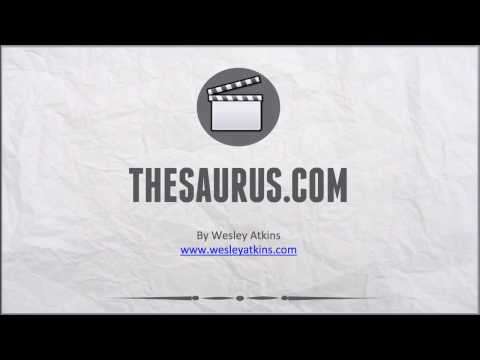 [ Create Your Own Website ] 9. Thesarus.com