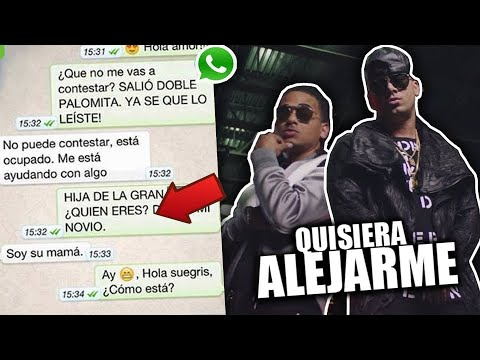 """BROMA a mi PRIMA con LETRA DE CANCION """"Quisiera Alejarme"""" Wisin ft. Ozuna *ME MANDA VIDEO*"""