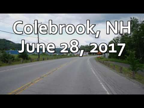 Take a ride through downtown Colebrook, NH  4K