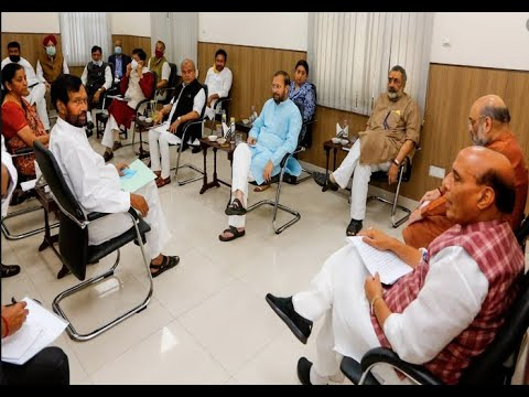 Urdu News- Rajnath Singh chairs Group of Ministers meeting to discuss COVID 19 situation