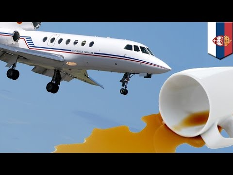 Serbian president's plane plunges over 1,000m after careless co-pilot's coffee spill