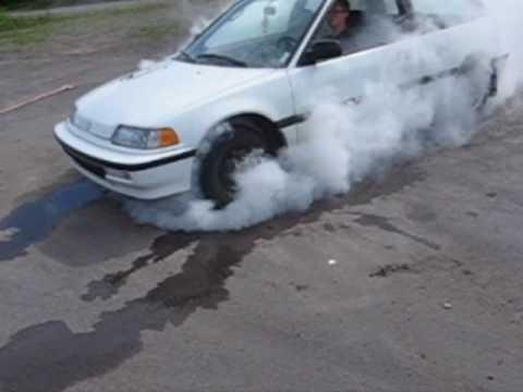 Honda Civic 1991 Burnout.wmv
