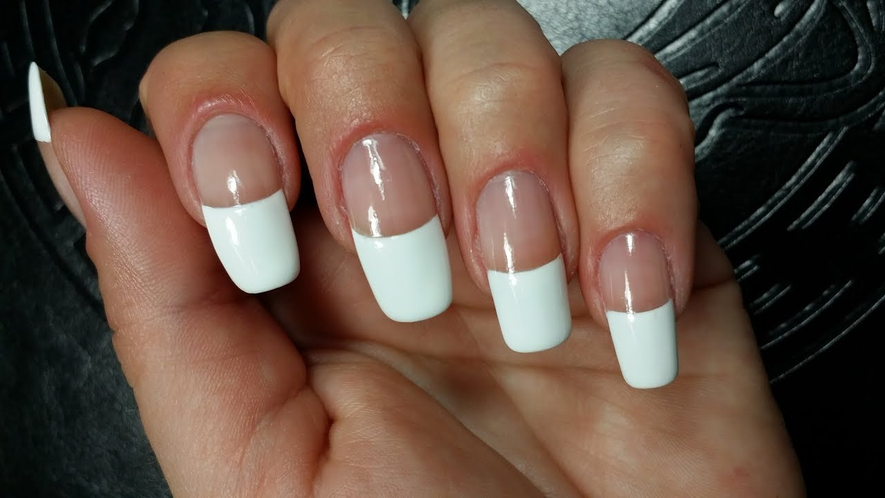 Easy Perfect French Manicure Diy Nail Tutorial On Natural
