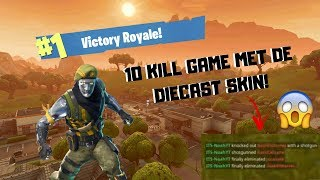 10 KILL WIN MET DIECAST SKIN! - Fortnite Battle Royale SQUAD's