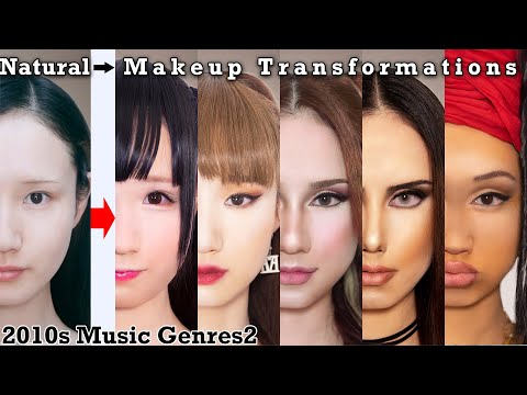 The 2010s Music Genres World Makeup And Fashion 5 Transformations 2 | AmaterasuEVE