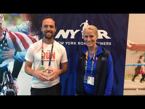 At the NYC marathon, live with New York Road Runners and New Balance!