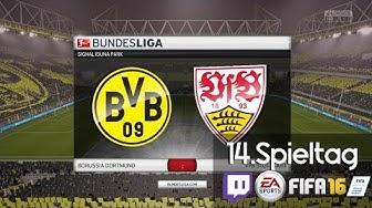 BORUSSIA DORTMUND : VFB STUTTGART - 14 .Spieltag   LIVESTREAM Bundesliga Prognosen
