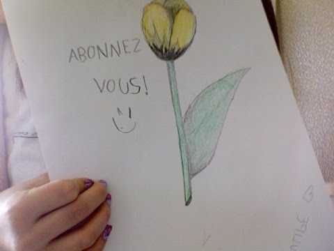 Dessiner une fleur la tulipe lvcookiedraw youtube - Tulipe a dessiner ...