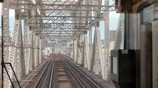 JR大阪環状線内回り323系前面展望大阪駅〜大阪駅までを撮影しました。