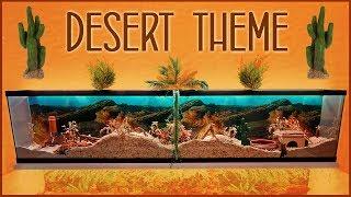 🌵 DESERT Themed Hamster Cage!