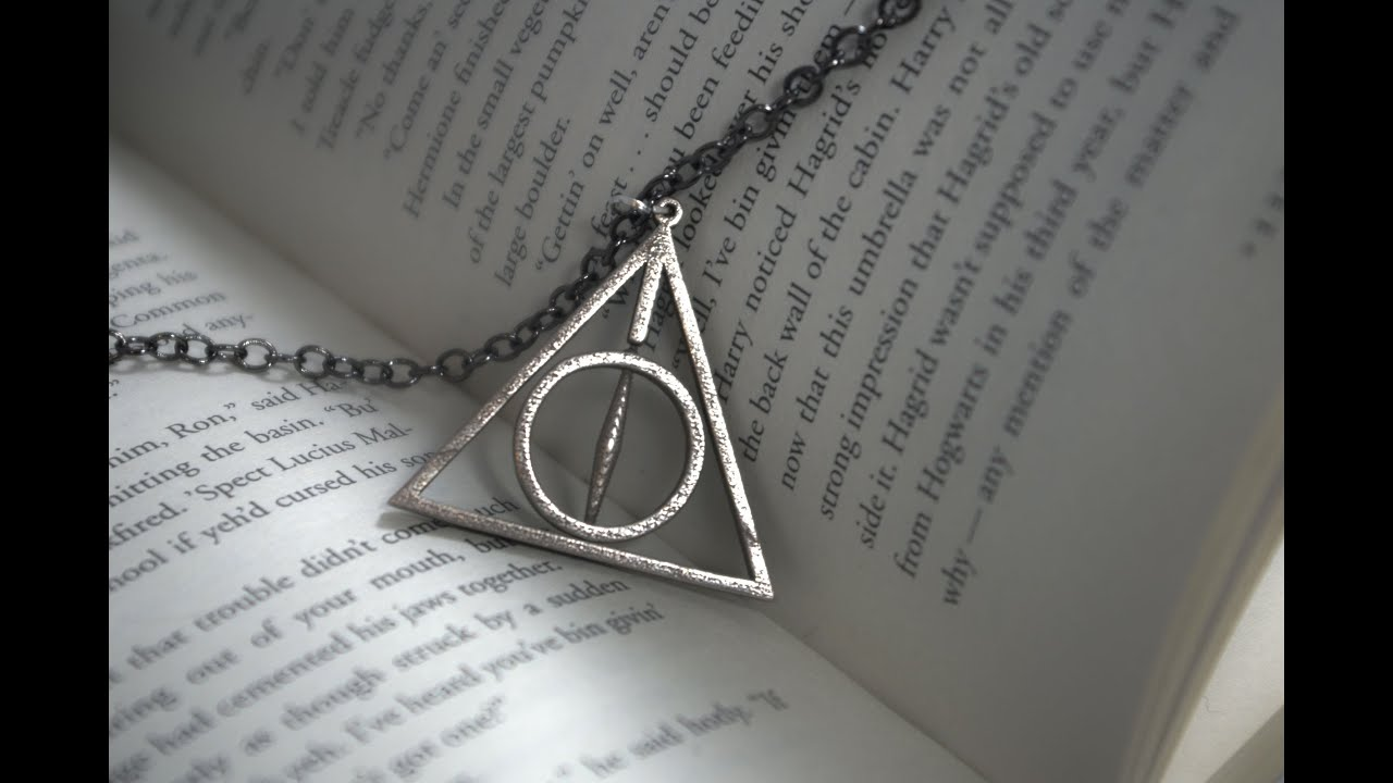deathly hallows necklace assembly