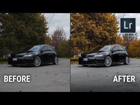 Car Photography Basic Lightroom adjustments - Part 1