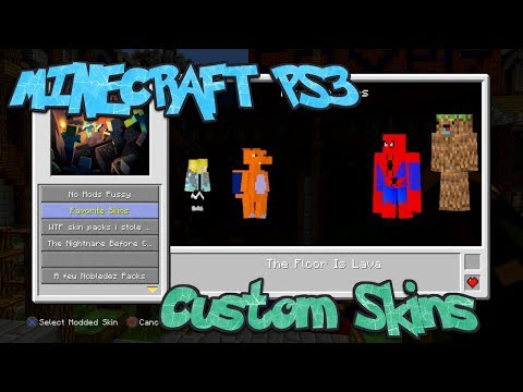 Minecraft PS3 Custom Skins. (Tutorial And Showcase Of Some)