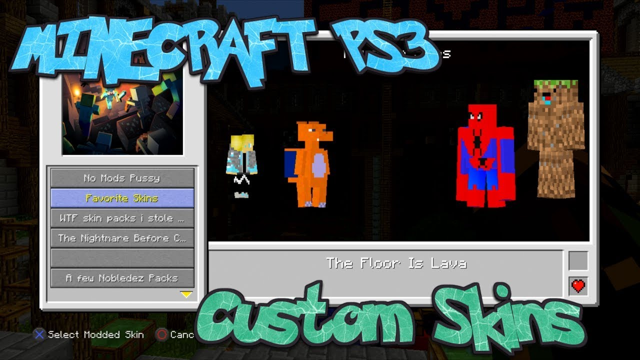 Minecraft PS11 Custom Skins. (Tutorial and showcase of some)