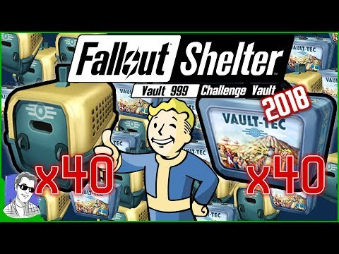 40 Lunchboxes And 40 Pet Carriers Mega Unboxing Fallout Shelter Legendaries