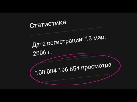 Новый Рекорд на YouTube / 100 МИЛЛИАРДОВ просмотров