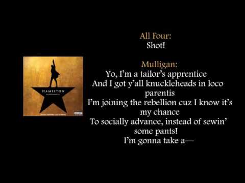 image regarding Hamilton Lyrics Printable referred to as Hamilton My Shot lyrics