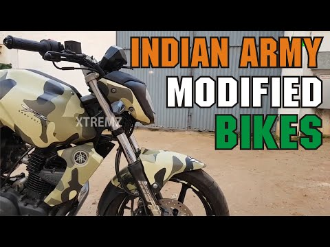 Yamaha FZ Indian Military Wrapping Stickers | Camouflage Army Color FZ Modified Bikes | #xtremz