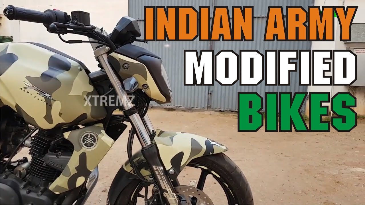 Yamaha fz indian military wrapping stickers camouflage army color fz modified bikes xtremz
