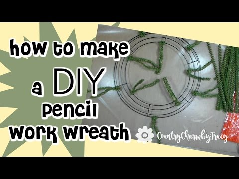 How to Make Your Own Pencil Work Wreath Base for Deco Mesh Wreaths || DIY