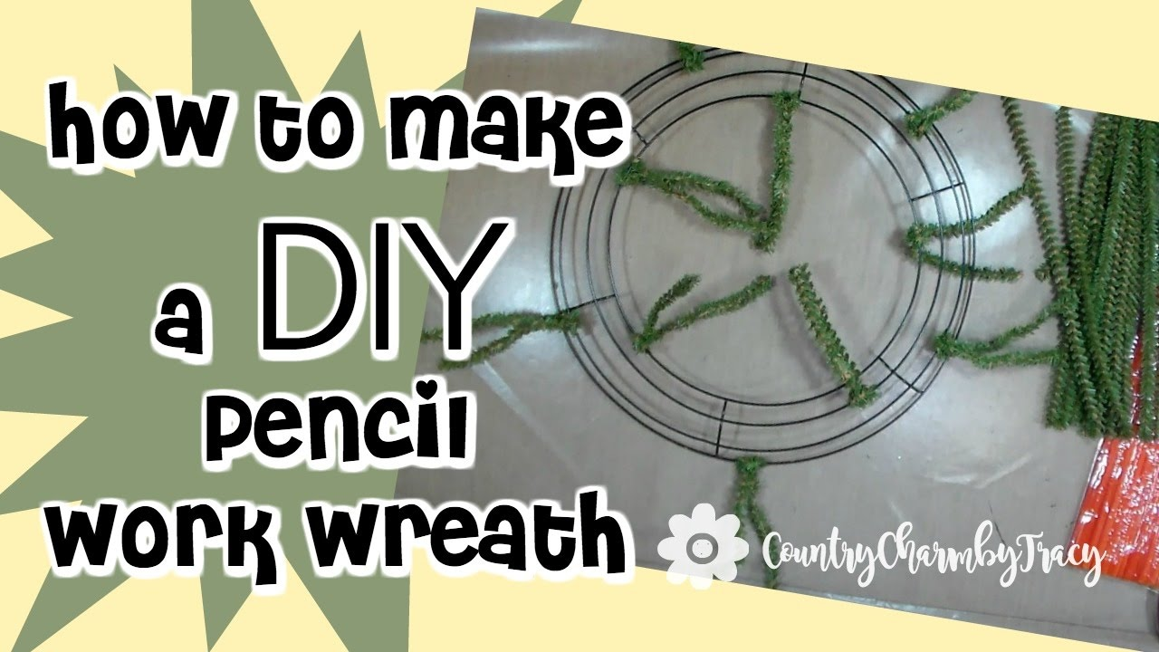 How to Make Your Own Pencil Work Wreath Base for Deco Mesh Wreaths ...
