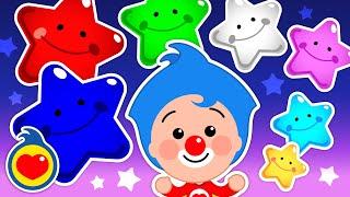 Estrellitas ¿Dónde Están? ♫ Canciones Infantiles Para Dormir y Aprender Colores ♫ Plim Plim