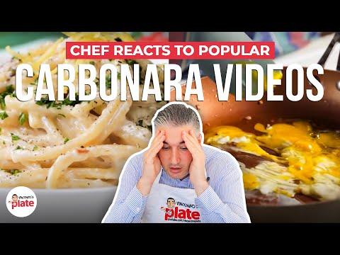 Italian Chef Reacts to Popular CARBONARA VIDEOS