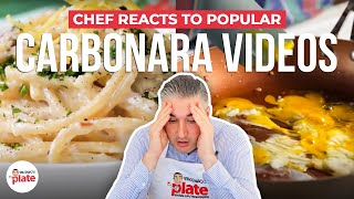 Italian Chef Reacts to Popular CARBONARA VIDEOS