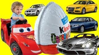 Disney Cars Toys Kinder Surprise Eggs Mini modelle Drive Lightning McQueen, World Grand Prix