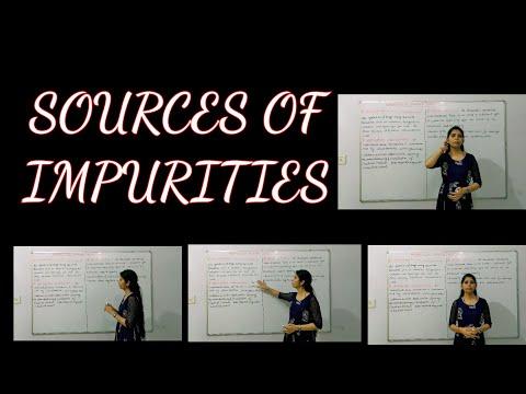 PHARMACEUTICAL INORGANIC CHEMISRTY II SOURCES OF IMPURITIES, UNIT-1, LECTURE- 2 B.PHARMA1ST SEM. II