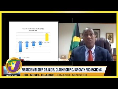 Finance Min. Dr Nigel Clarke on PIOJ Growth Projections | TVJ Business Day - August 27 2021