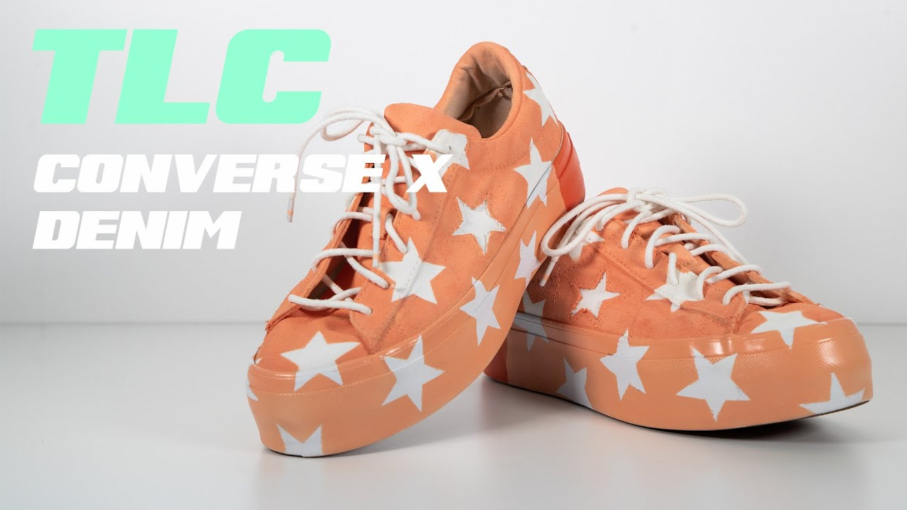 TLC CUSTOM SNEAKERS // USING AN AIRBRUSH AND STENCIL