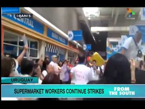 Union Pickets Shake Uruguay's Biggest Supermarket Chains