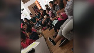 Leaked video from inside facility for separated immigrant children