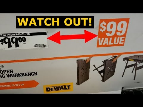 DeWalt Workbench, Home Depot? On Sale? Are You Scamming Us?