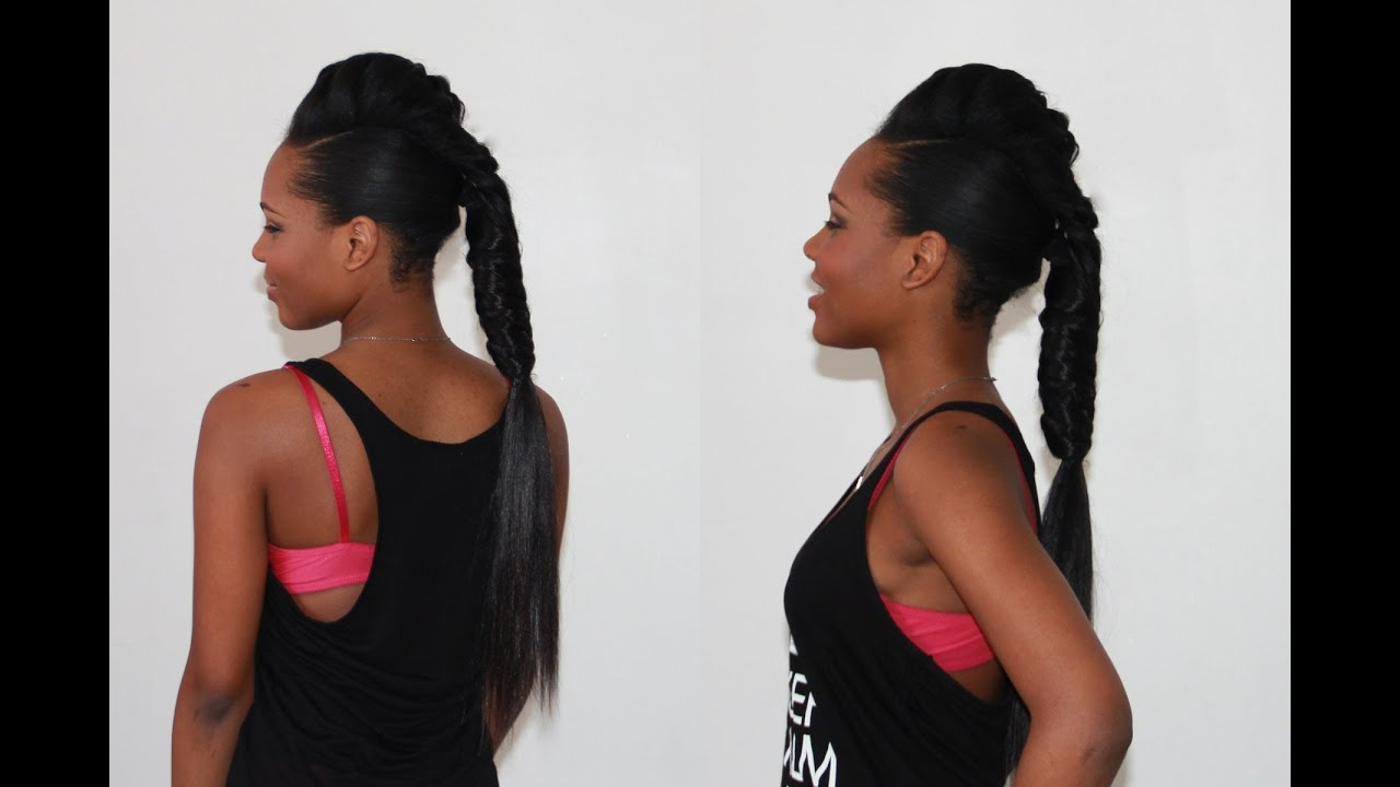 long fishtail braid with hair extensions   youtube