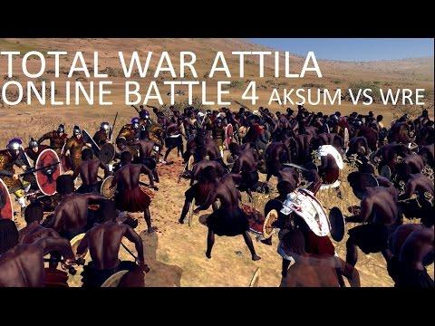 Total War Attila Online battle - Aksum vs WRE Empires of sand culture pack |