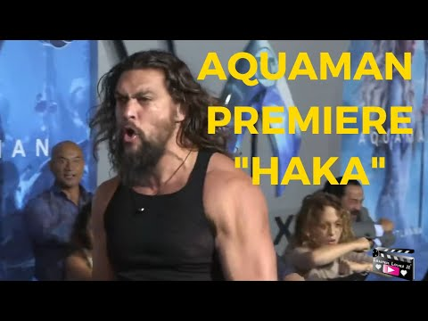 JASON MOMOA AND HIS CHILDREN PERFORM HAKA DANCE AT THE AQUAMAN PREMIERE