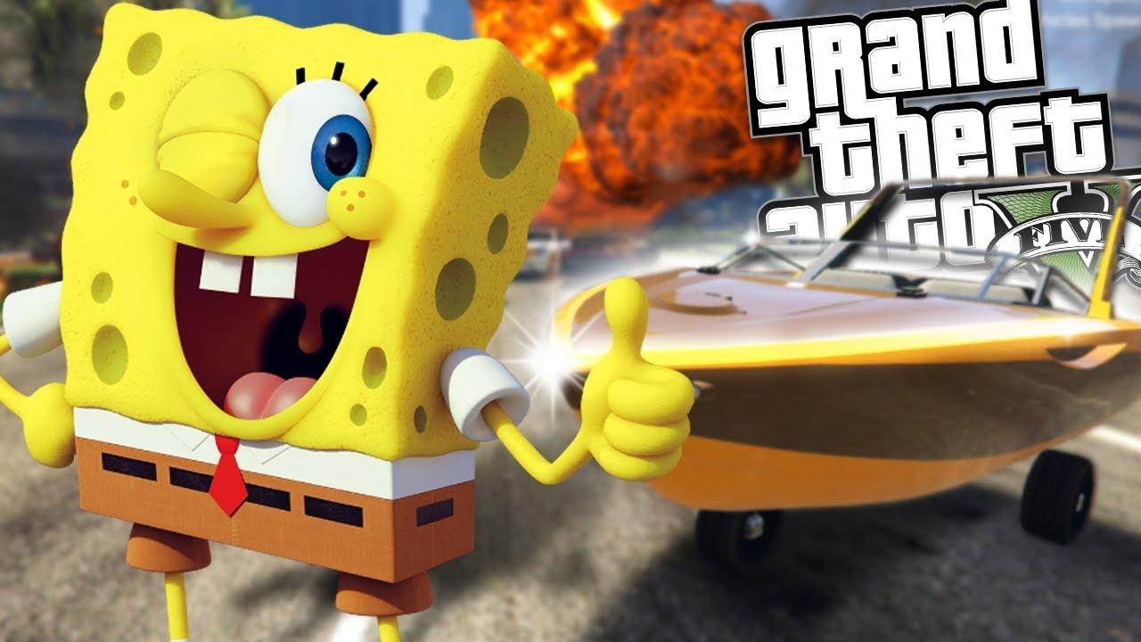 ad15041c77 SPONGEBOB GETS HIS LICENSE MOD (GTA 5 Mods Gameplay) - YouTube