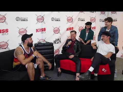 None - Interviewing Foster The People at Bunbury 2018