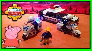 Playmobil Police Rescue, ❤️ Fireman Sam, Peppa Pig Full New Long English Episode with Toys. 2015